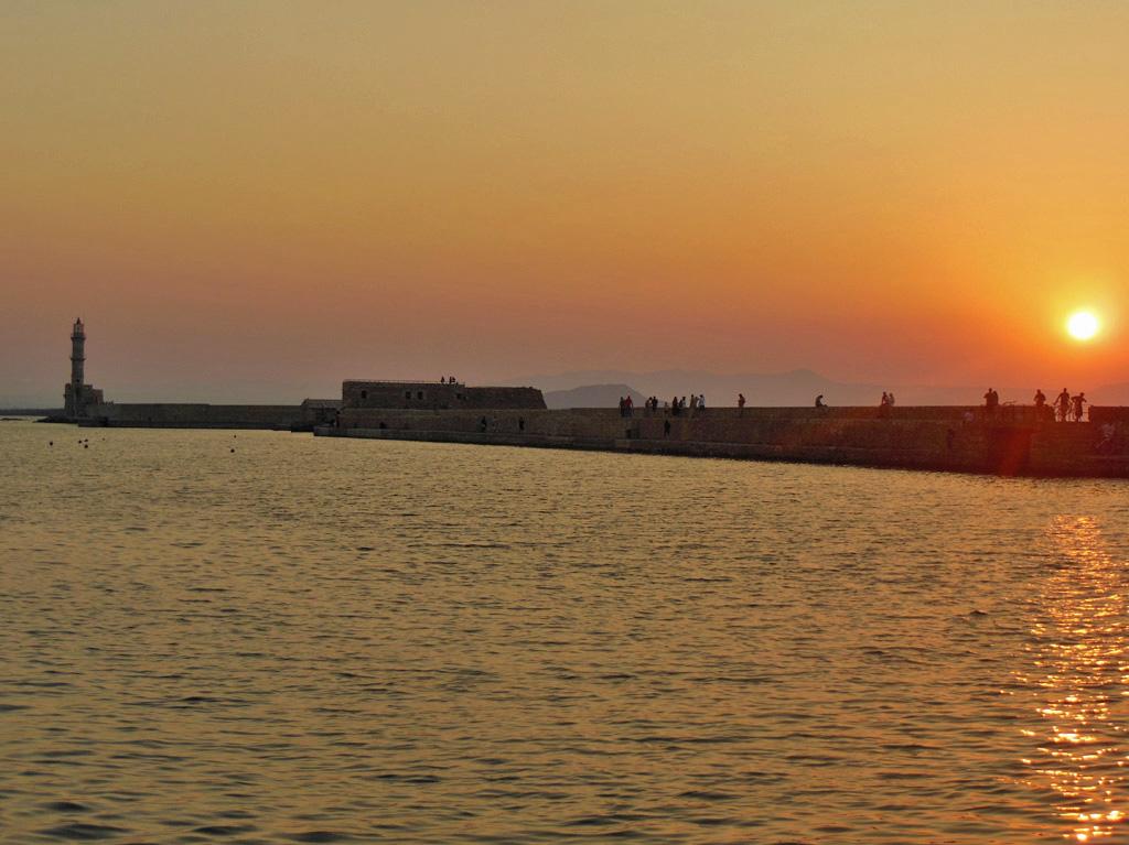 Solnedgang Chania